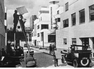 La rue Mallet-Stevens, lieu de tournage.
