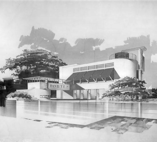 Projet du pavillon de la Solidarité Nationale de l'exposition internationale des arts et techniques de 1937
